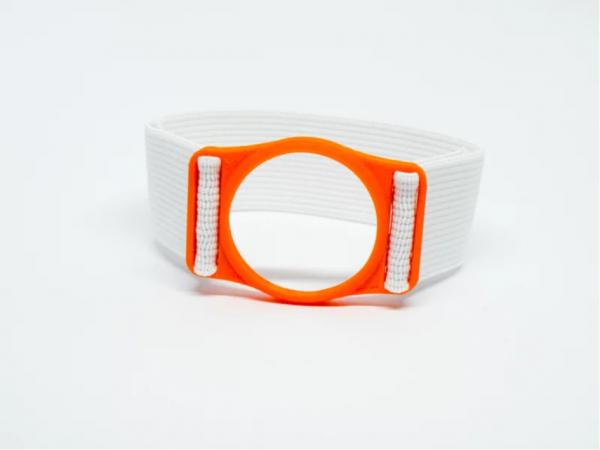 Diabeters sensorhouder neon oranje